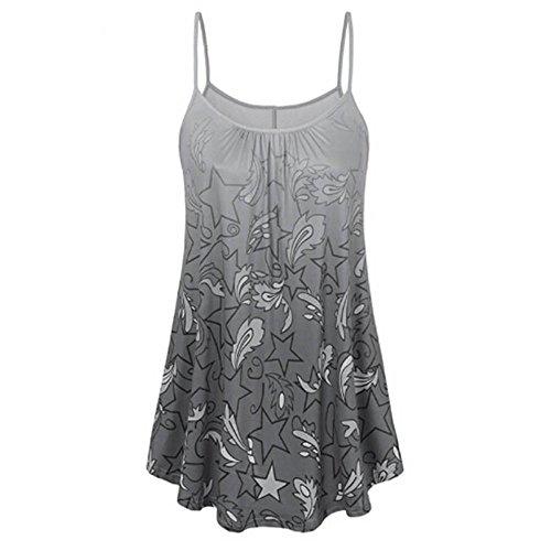 (Tank Tops Women chaofanjiancai Camisole Plus Size Vest Plain Tops Summer Blouse T-Shirts (2XL, Gray 3))