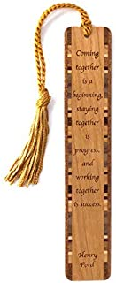 product image for Personalized Quote About Success, Engraved Wooden Bookmark with Tassel - Search B073WLZZRR for Non-Personalized Version
