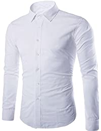 Kebinai Mens Slim Fit Dress Shirts Casual Camisa