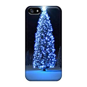 Awesome Case Cover/iphone 5/5s Defender Case Cover(glow Christmas Tree)