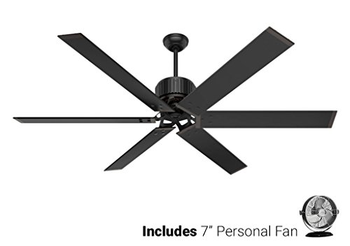 Hunter Outdoor Ceiling Fan Black 59136 HFC-72 72