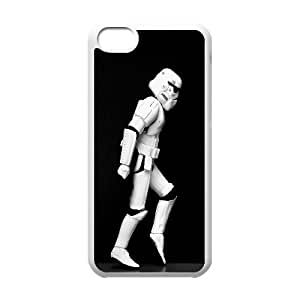 Moonwalking Stormtrooper Funny 3 iPhone 5c Cell Phone Case White gift pp001_9436853