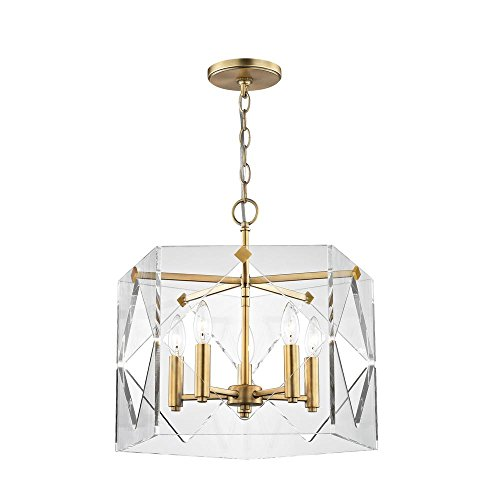 Fifth and Main Lighting Pentos 5-Light Aged Brass Acrylic Pendant