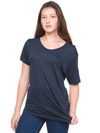 American Apparel Unisex Viscose Sexuali-Tee Small-blue