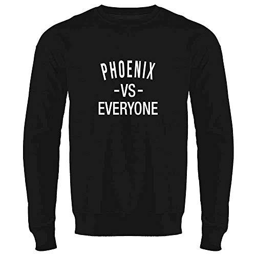 Phoenix vs Everyone Arizona Sports Fan Black 3XL Mens Fleece Crew Sweatshirt