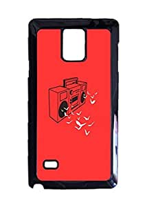 Boombox Custom Image Case, Diy Durable Hard Case Cover for Samsung Galaxy Note 4 , High Quality Plastic Case By Argelis-Sky, Black Case New