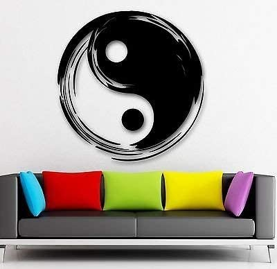 Wall Art Vinyl Stickers Chinese Symbol Transfer Mural Decals Yin Yang Design