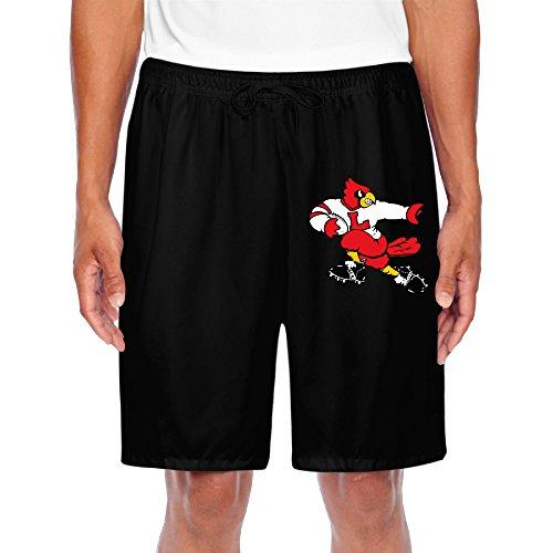 Zoena Men's Unique University of Louisville Cardinals Short Running Pants Black Size -