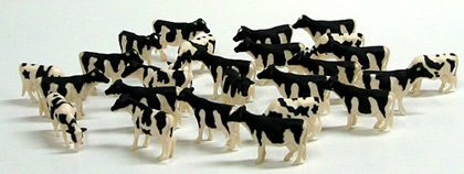Cow Toy (Holstein Cows (Pkg of 25) 1:64 Scale by ERTL)