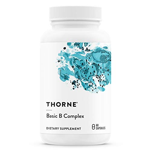 Thorne Research – Basic B Complex – B Vitamins in Their Active Forms – 60 Capsules