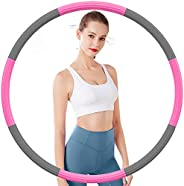 DUTISON Fitness Exercise Hoops,Adjustable Weight From 1.2kg to 3.2kg , Stainless-steel Inner Tube,Thick Double