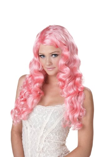 Costume Sweet Tart (California Costumes Women's Eye Candy - Sweet Tart Wig, Pink, One)