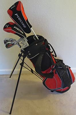 Junior Golf Club Set Complete With Stand Bag for Kids Ages 5-8 Red Color Premium Jr.