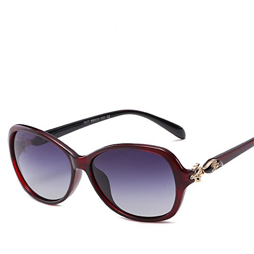 Chahua Lunettes de soleil brillant élégant tempérament élégant, européenne et américaine grande boîte lunettes de soleil dans les lunettes, D.