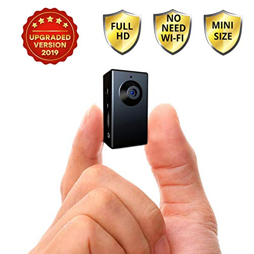Spy Camera no Wi-Fi Needed - Hidden Camera Motion Activated - Mini Body Camera - Nanny Hidden Small Camera - Tiny Spy Full HD Cam - Spy Hidden Cameras for Home - Easy to Use Portable Hidden Recorder