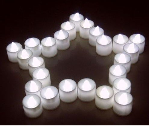 Cold White Flickering Flameless LED Candle Lights For