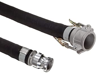 Unisource 2612 Rubber Suction/Discharge Hose Assembly, Aluminum Cam And Groove Connection