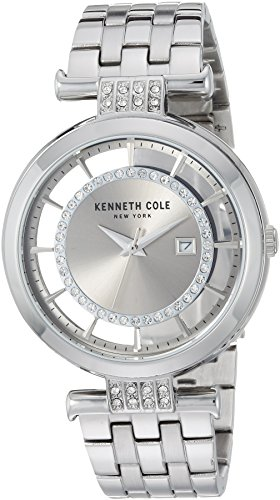 Kenneth Cole New York Women's Quartz Stainless Steel Casual Watch, Color:Silver-Toned (Model: ()