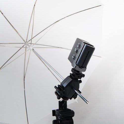 AGG1766 LimoStudio Photography Flash Light 3 Head Triple Hot Shoe Mount Adapter Flash Light Bracket Umbrella Holder