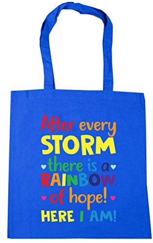 HippoWarehouse Beach Cornflower 10 us storm x38cm Bag I every Shopping hope here of Gym a am Tote Blue litres After rainbow there 42cm rx1ZHqr
