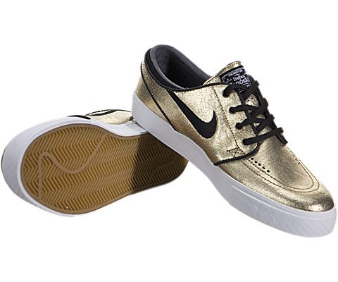 best loved 16820 632a7 Nike SB Zoom Stefan Janoski Leather Metallic Gold White Gum Light ...