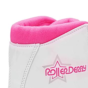 Roller Derby U324G-03 Girls Roller Star 350 Quad Skate, Size 3, White Pink