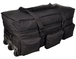 Sandpiper of California Rolling Loadout Luggage X-Large Bag (Black, 15.5x37x17-Inch)