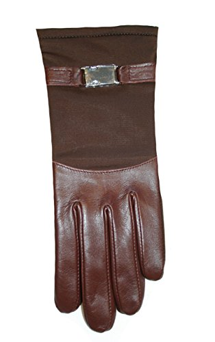 Gore Tex Thinsulate Gloves (Echo Women's Thinsulate Soft Leather Goretex Wrist Driving Winter Glove Brown (L))