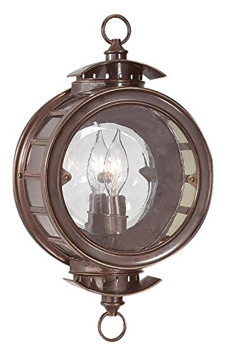 Troy Lighting Charleston 1-Light Outdoor Wall Lantern - Heritage Bronze Finish with Antique Clear Glass - Charleston Ceiling Fixtures
