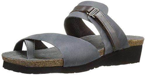 Naot Footwear Women's Jessica, Vintage Slate Leather/Mirror Leather, 39 M by Naot Footwear