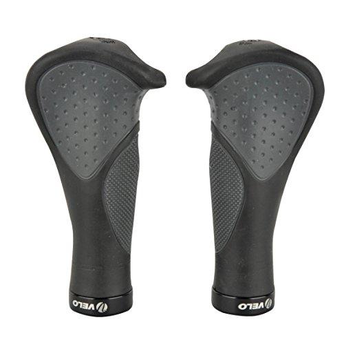 Fischer Anatomic Ergonomic Mountain Bike Bicycle Cycling Handlebar Grips-Black, One Size