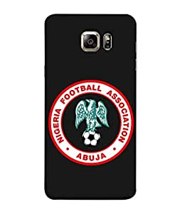 ColorKing Football Nigeria 03 Black shell case cover for Samsung S6 Edge Plus