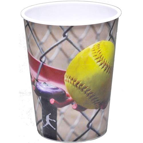 Softball Party Cup (16 oz. Plastic Souvenir Favor Cup) Girl's Fastpitch Softball, Extra Innings Collection by Havercamp