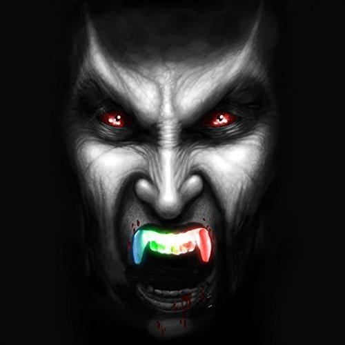 ANPHSIN 2 PCS Silicone Halloween Flash Teeth Braces-Vampire Type