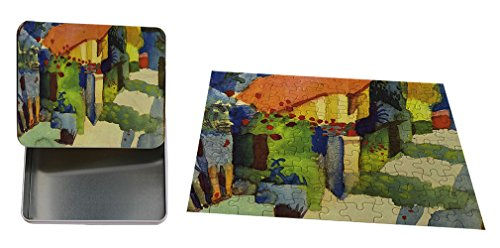 House In The Garden (August Macke) Metal Tin Trinket Box (4