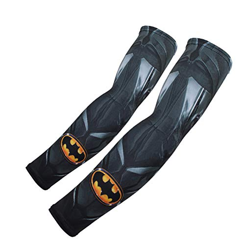 Batman Basketball - GERGER BO Prtective Arm Sleeves,Spiderman Batman Superman Arm Sleeve Set of 2 for Men Women