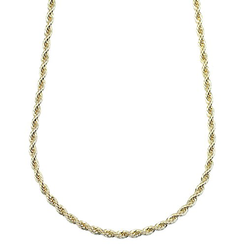 Mega Jewellery Gold Plated HIP HOP Rope Chain, Dookie Chain 4mm X 24