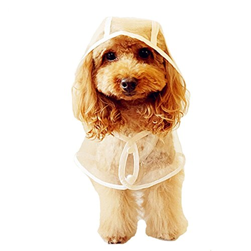 Rubber Ducky Rain Boot - Fashion Shop Packable Pet Dog Rainy Days Slicker Transparent Raincoat. (XL(Back 38cm Neck 48cm ))