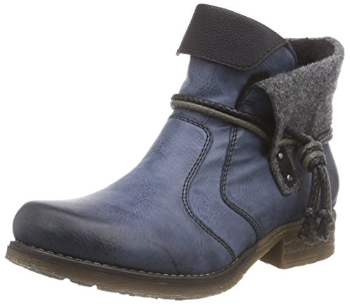 Rieker 79693, Women's Ankle Boots Blue (Ozean/Schwarz/Granit/Schwarz/14)