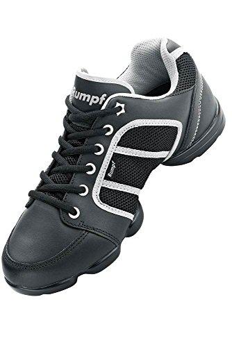 1590 RUMPF Funky Sneaker Dance Fitness Aerobic Gymnastik Sneaker Tanzsneaker Tanzschuh Schwarz/Silber