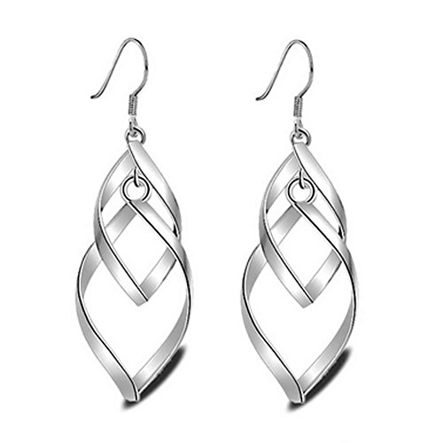classic wire linear silver hanging earrings_ladies long linear hook earrings_dangle drop hook earings jewelry for womens accessory_silver earrings for women ladies girls dangling hook accessories