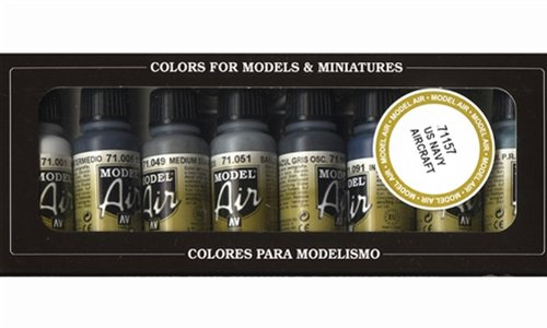 Paint Model Aircraft (Vallejo WWII USN Aircraft Model Air Paint, 17ml)
