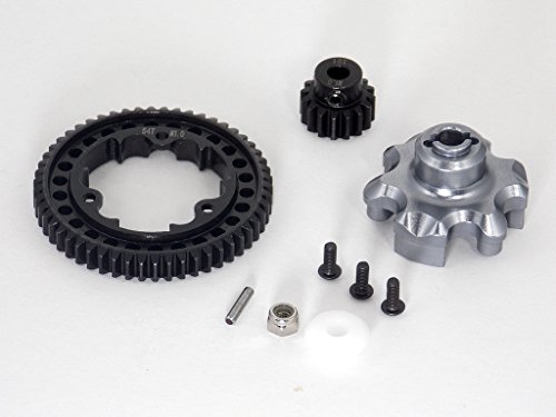 Traxxas X-Maxx 4X4 Upgrade Parts Aluminum Gear Adapter + Steel Spur Gear 54T + Motor Gear 16T (For X-Maxx 6S Only) - 1 Set Gray Silver