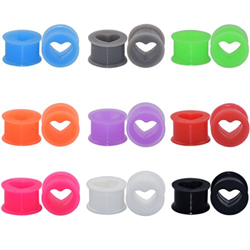 12mm heart plugs - 4
