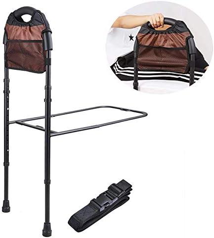高齢者のための調節可能なベッドレール、安全性は先輩の子供、バー付きの収納ポケット高さ調節可能なハンディキャップをつかむためのハンドルの手すりをアシスト