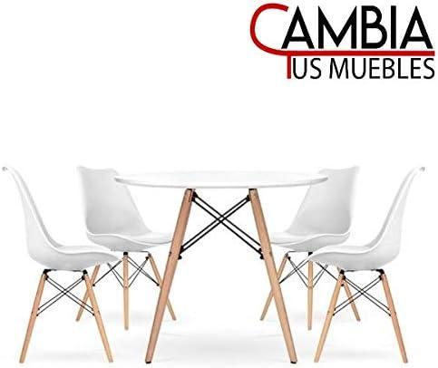 CAMBIA TUS MUEBLES Replica Mesa Eames 080 R + 4 sillas Eames ...