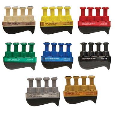CanDo 10-3778 Digi-Flex LiTE Exerciser Set, Tan/Yellow/Red/Green/Blue/Black/Silver/Gold
