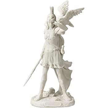 Athena - Greek Goddess Of Wisdom And War with Owl Statue