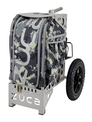 sic Camping Cart Anaconda/Gray Outdoor Rolling Bag (w/Multi-Use Pole Holder) and Built-in Seat ()