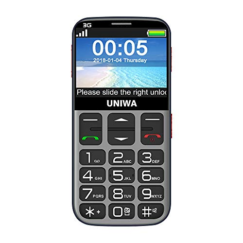 Mosthink Unlocked Cell Phones for Elderly People, Cell Phone for Seniors SOS Senior Phone Senior Cell Phone Unlocked Big Buttons and High Volume, 3G Basic Phone AT&T Compatible